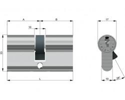 Cilindro di Sicurezza Rielda RS3 Riprogrammabile