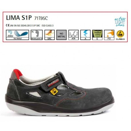Sandalo Antinfortunistca Giasco Lima S1P