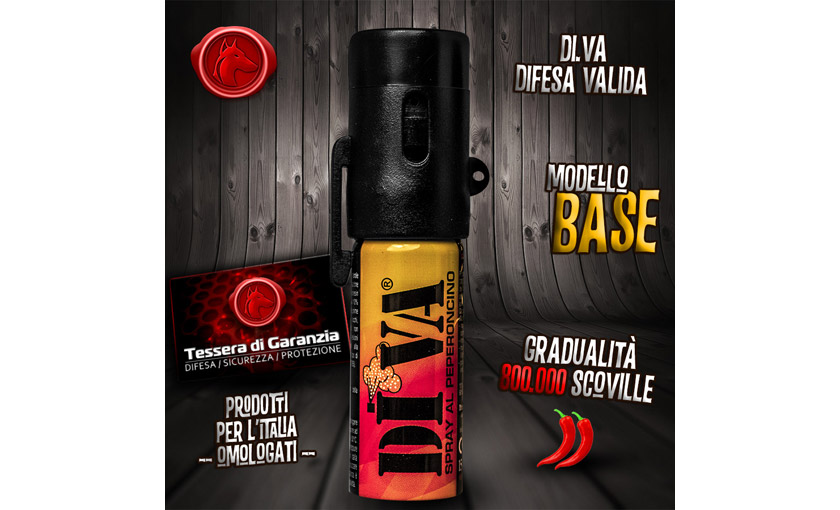 Spray antiaggressione al peperoncino diva top classic - Spray al peperoncino diva top camo ...