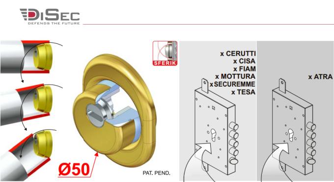 25 mm Disec Bd200 Defender Monolito Sf Cromato Satinato